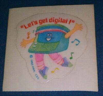 Vintage 1983 Hallmark Let's Get Digital Sticker