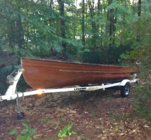 Cedar Strip 18ft boat, 9.9 hp Yamaha motor and Legend trailer