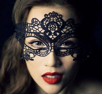 Black Masquerade Party Lace Face Mask, Dancing, Party, Ball, Costume