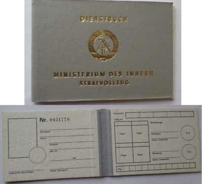 DDR Polizei Ausweis Strafvollzug / East german Prison - Police Document ID GDR
