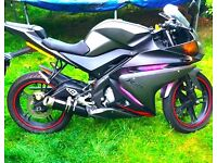 Yamaha yzf r125, sports exhaust, mint condition
