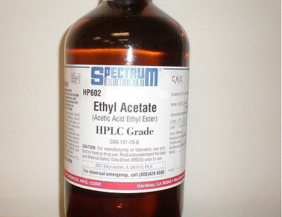Spectrum Ethyl Acetate (Acetic Acid Ethyl Ester) HPLC Grade 100 ml 99.8%