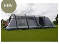 Kampa studland air tent brand new boxed with carpet footprint and new awning