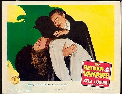 Return of the Vampire Vintage Lobby Card Movie Poster Bela Lugosi 1943