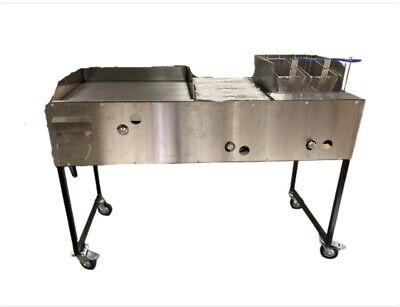 24x24 Griddle Steamer Well Fryer. Plancha Para Tacos