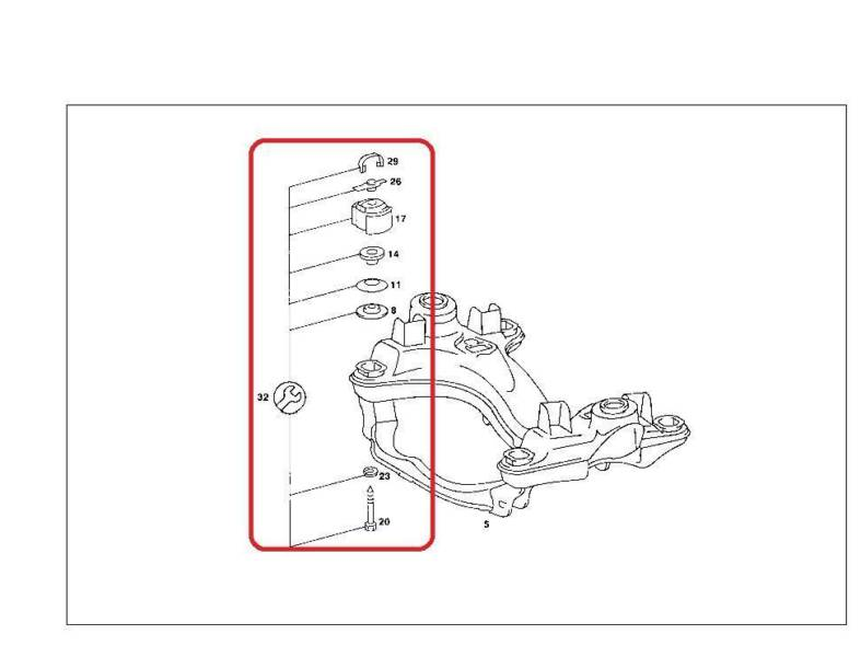 Mercedes Front Sub Frame Mount Kit W107 W114 115 115 330 18 75