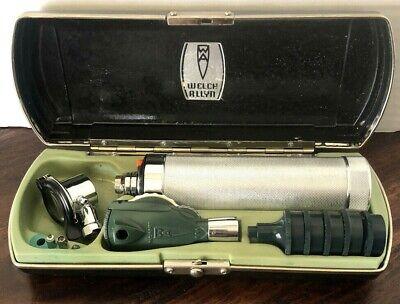 Vintage Welch Allyn 05250 Otoscope In Case Wattachments No Battery