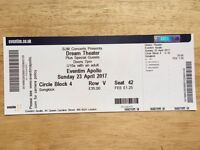 Dream Theater ticket for London Hammersmith 23rd April