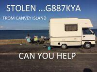 stolen camper van from Canvey Island