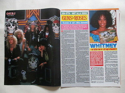 Guns n Roses Whitney Houston Yazz Scorupco Appleby Alien clippings Sweden for sale  Shipping to United States