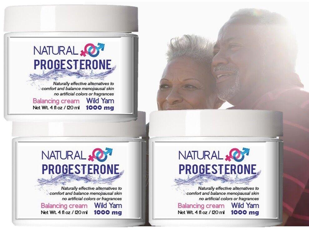 3Natural Progesterone 1000mg Cream Xtra strength USP certificate Feminine Balanc