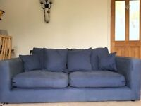 Sofa with removable washable covers