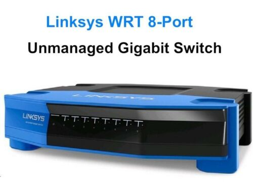 Brand New Linksys SE4008 WRT 8 Port Gigabit Ethernet Unmanaged Switch