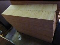 10 Pieces of NEW 18mm Premium Quality Pine Exterior Plywood 4ft x 9in (1220mm x 225mm)