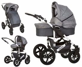 baby pushchair Alson 3 in 1 , in excellent condition 3 mount old