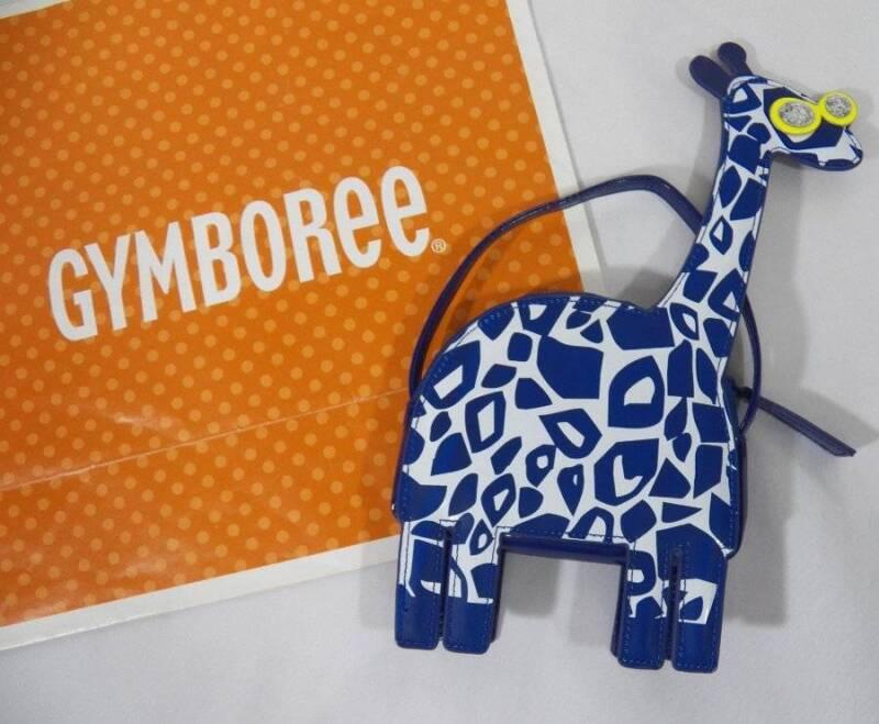 ~Gymboree~ Girls One Size BLUE SAFARI Giraffe Handbag Purse