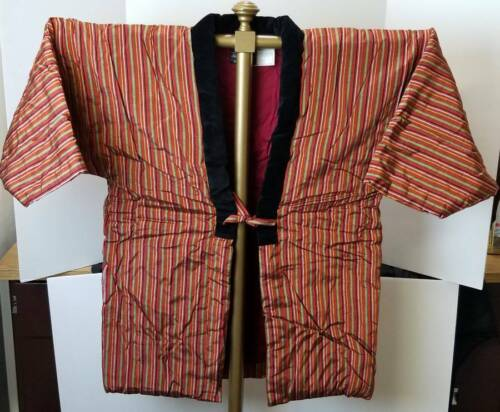 Vintage Red Hanten House Kimono Jacket Hantenya Hand Made Mint Condition