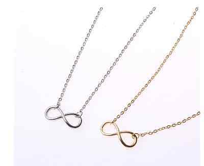 Hand-Made!!! Super Fashion *Infinite Love* Silver/Rose Gold Pendant Necklace