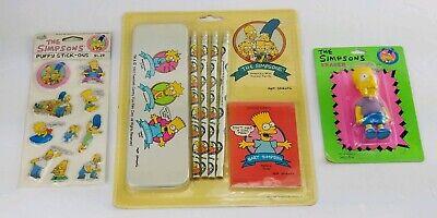 Vintage 90s Simpsons Pencils Stickers School Supplies Lot - 90s School Supplies