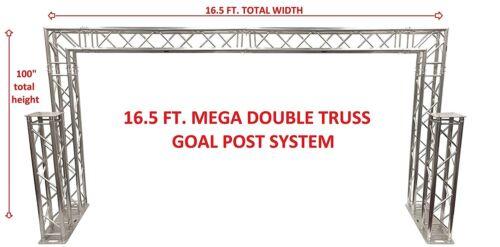 Complete 16 ft Square Aluminum Double Truss Goal Post Lighting System DJ Lights