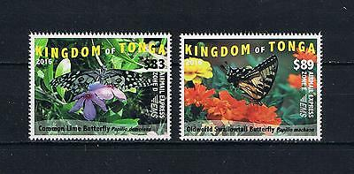 Tonga - 2016 Butterflies EMS Rates Part 3 Postage Stamp Singles Set
