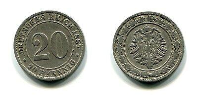 20 Pfennig 1887 D