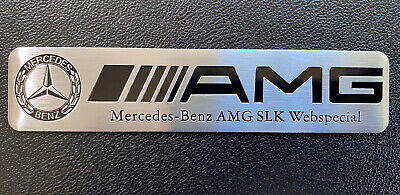 Mercedes AMG Emblem Aufkleber Sticker 12cm x 2,5cm Aluminium