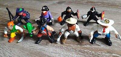 VTG 90s Lot of 8 Fisher Price Great Adventures Figures Knights Pirates Cowboys
