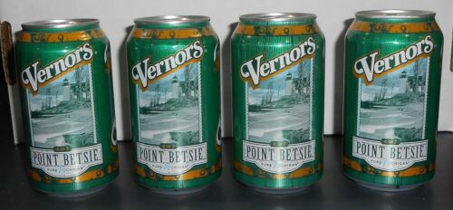 2018 Vernors Soda Cans - Point Betsie Lighthouse – Lot of 4