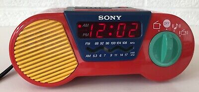 Vintage Sony ICF-C6000 My First Sony Kids Alarm Clock Am/Fm Radio Works