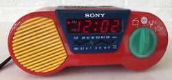 Vintage Sony ICF-C6000 My First Sony Kids Alarm Clock Am/Fm Radio Works
