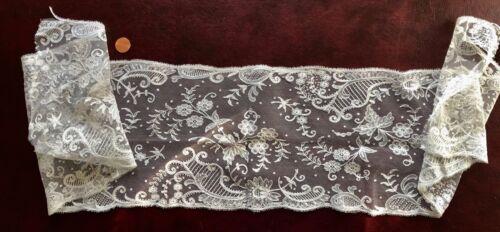 Elaborate Victorian tambour chainstitch lace border SEW CRAFT COSTUME