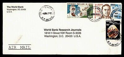 DR WHO 1992 BENIN COTONOU AKPAKPA AIRMAIL TO USA  g19900