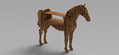 Artcam Vectors Horse Table Shelf Router Laser Cnc Dxf Files Woodworking