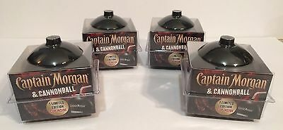 Lot of 4 NEW Captain Morgan Cannonball Plastic Cups Rum Limited Edition