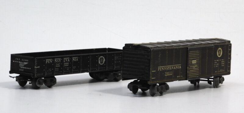 USED Lot Marx PRR Boxcar #70311 and Gondola #347000