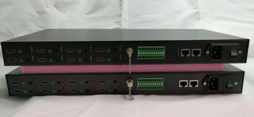8CH HDMI 1080p@59.97Hz Fiber Extender with 8x bidirectional Audio and RS232 data