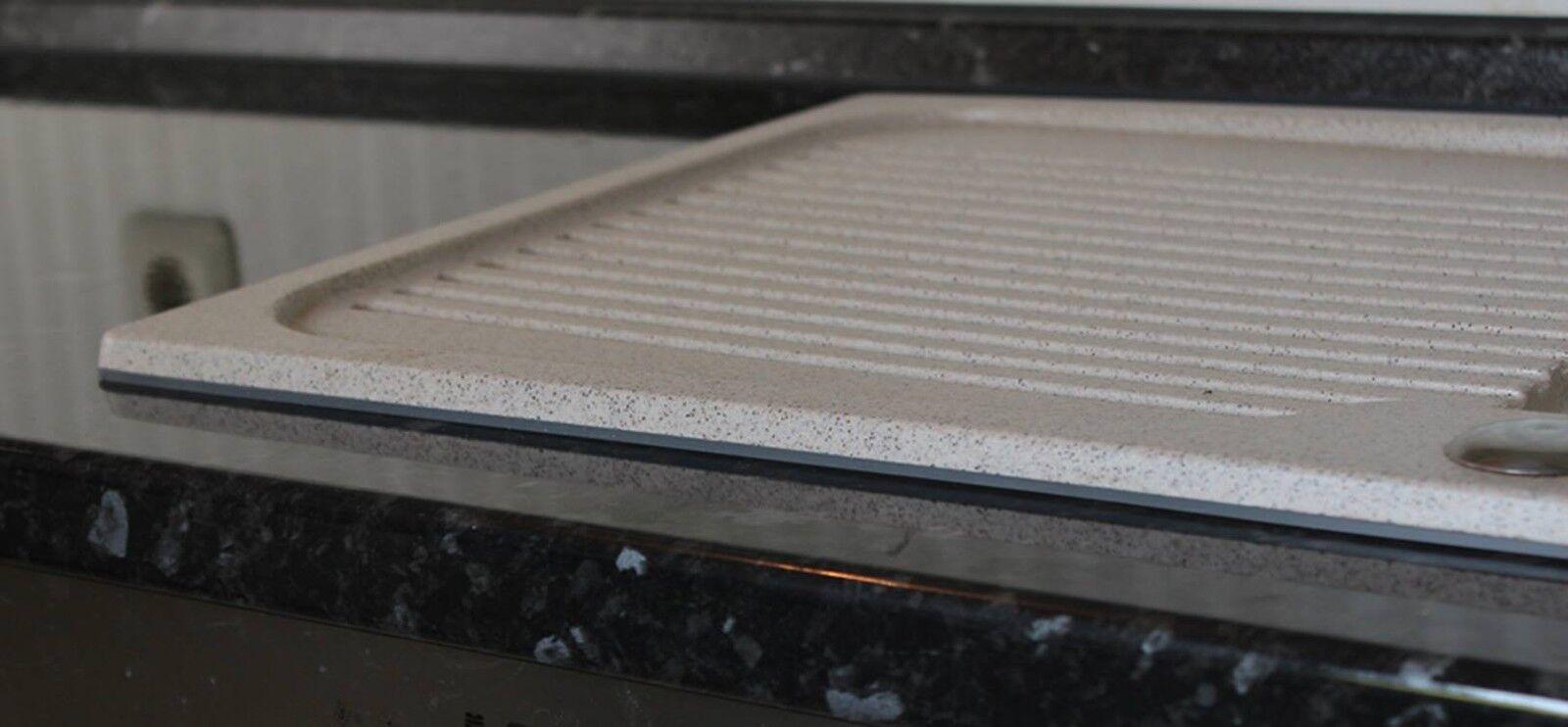 Silikon Dichtung Fur Einbau Spulbecken Granit Mit Weiss Schwarz