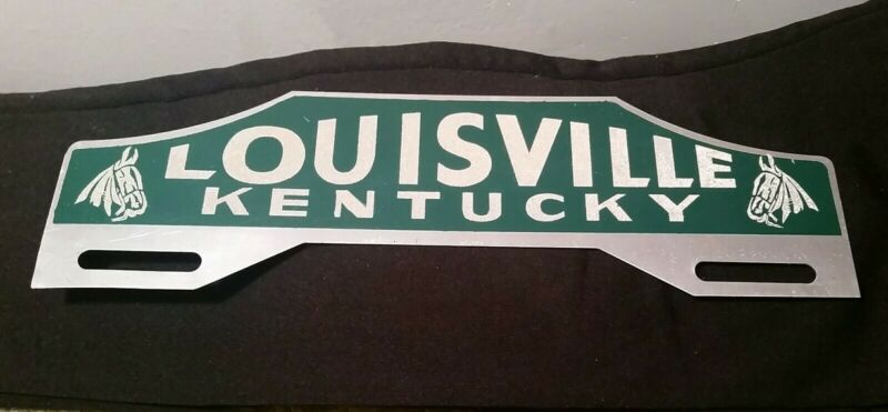 VINTAGE LOUISVILLE KENTUCKY, WITH HORSE HEADS LICENSE PLATE TOPPER