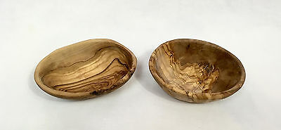 """Woodworks Gallery Hand Carved Small Wooden Bowls, 5"""" x 3.5"""""""