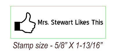 New Personalized Custom Teacher Name Self Inking Rubber Stamp Like Thumb Sign