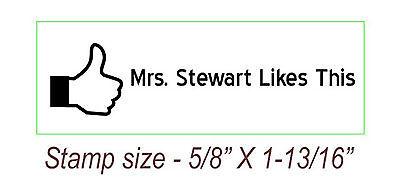 Custom Teacher Name Self Inking Rubber Stamp Like Thumb Sign Stamp
