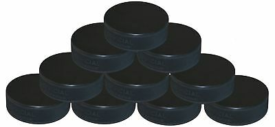Pack Of 10 Ice Hockey Pucks - Black