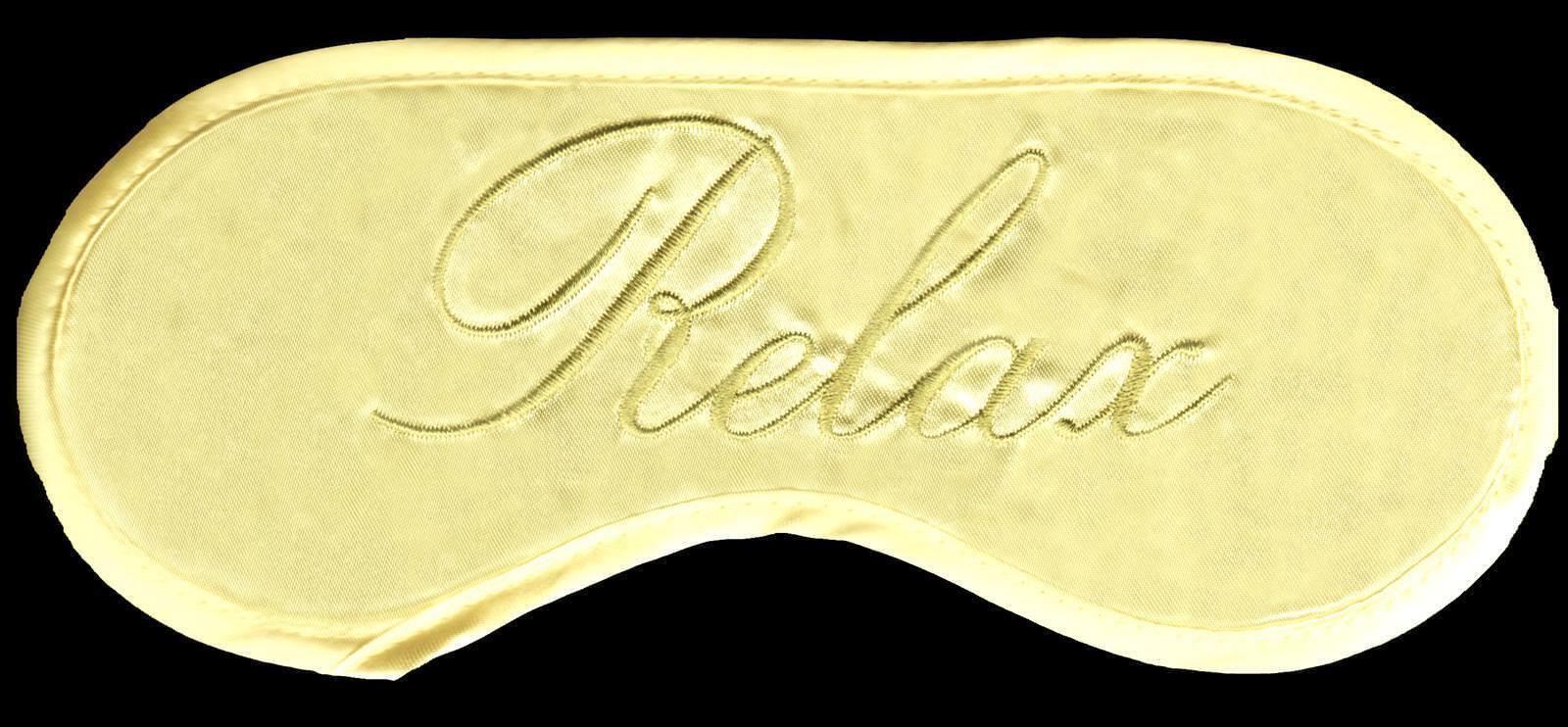 Light Butter YELLOW Satin RELAX Sleep Eye Mask Blindfold Nap Travel USA Seller - $9.99