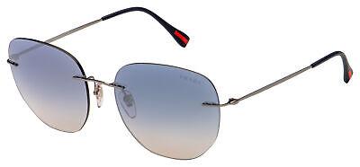 Prada Sport Sunglasses PS 50TS 5AV5R0 57 Gunmetal | Light Blue Gradient / (Blue Prada Sunglasses)