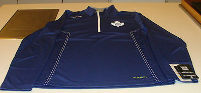 Toronto Maple Leafs Hockey Reebok Center Ice Baselayer 1/4 Zip Top Pullover XXL ()
