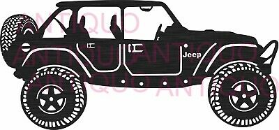 Jeep Car - Dxf Cdr Files For Cnc Plasma Router Or Laser Cut Dxf File