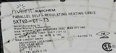 Nventraychem 5xtv2-ct-t3 High Temp Self-regulating Heat Cable 5wft 277v 1ft