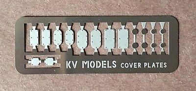 ETCHED HEADLIGHT COVER PLATE SET -EMD GE - HO SCALE KV MODELS KV-1013H Cover Plate Set