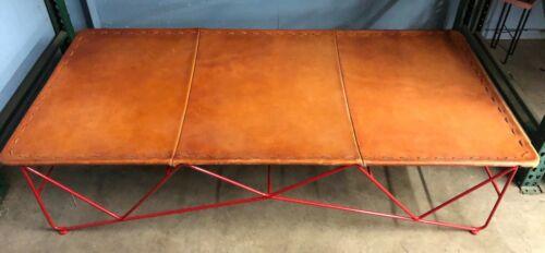 Saddle Leather Standard Cot - Garza Marfa - Red Base - USA Leather